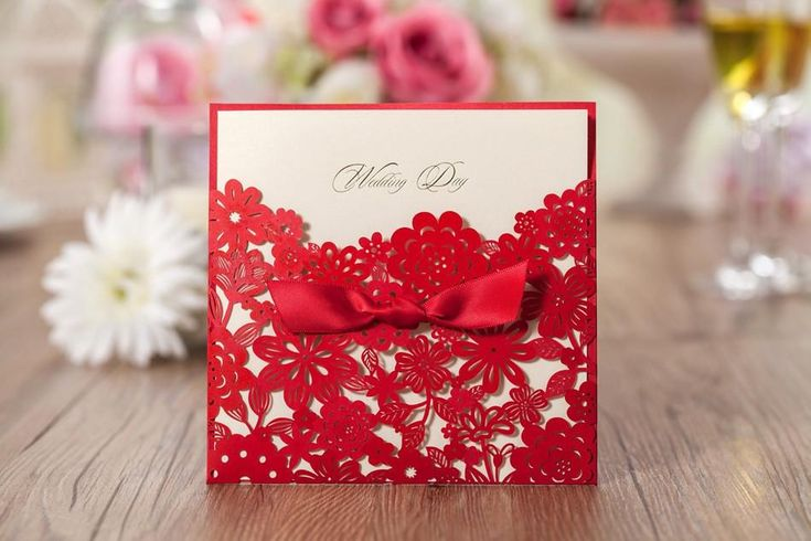 Elegant Pearl Wedding Invitation Red Elegant Handmade Laser Cut Chinese Wedding Invitation Card Printable Online with $0.93/Piece on Custom_wedding's Store | DHgate.com