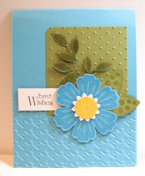 .: Cards Su Blossom, Card Ideas Embossed, Mothers Day Ideas, Handmade Cards, Simple Cards, Bunch, Flower Cards
