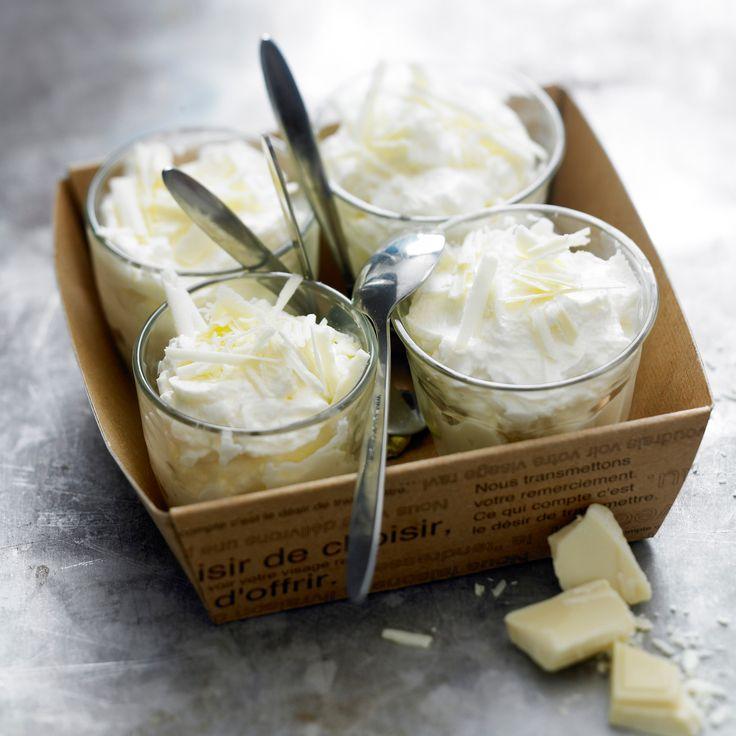 Découvrez la recette mousse au chocolat blanc légère sur cuisineactuelle.fr.