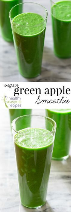 green apple smoothie {vegan, paleo and gluten-free} - Healthy Seasonal Recipes