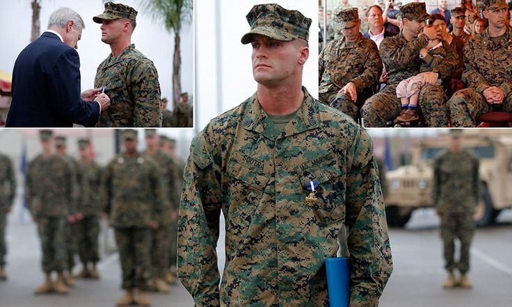 Navy Secretary Ray Mabus, pictured, honored four members of a Marine special operations team in a rare public ceremony for the covert forces on Monday.