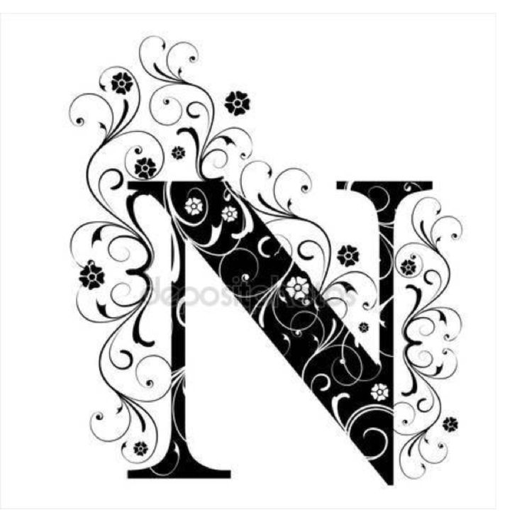 """Pin by Czarina Nina on The Letter """"N"""" Lettering"""
