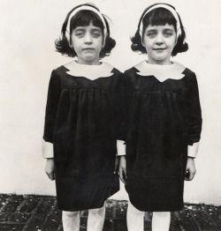 "moonriver-chacha: """"Identical Twins, Roselle, N.J.,"" 1967, by Diane Arbus. reproduction requires permission from the Diane Arbus estate. (Doon Arbus or Jeffrey Fraenkel of Fraenkel Gallery.) MANDATORY CREDIT: Courtesy of the Estate of Diane Arbus..."