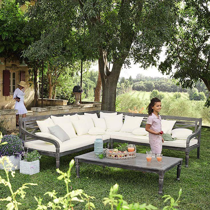 Salon de jardin fonte blanc for Salon jardin maison du monde
