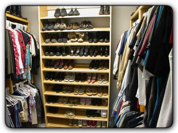 ... shoe racks for closet doors ...