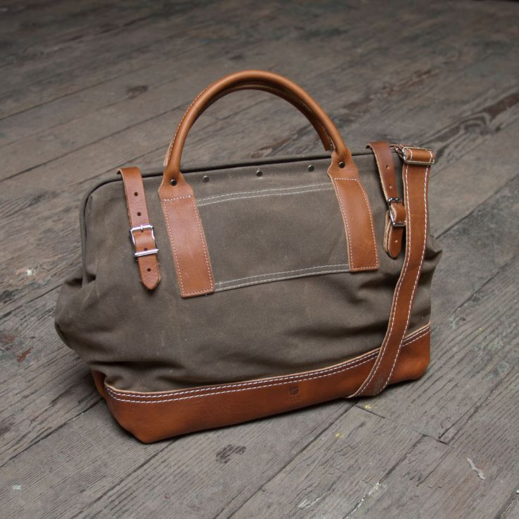 Men's Canvas And Leather Bags Of Wood & Faulk