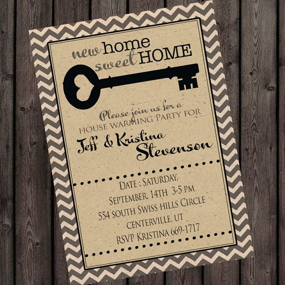 8 best Housewarming Invites images on Pinterest Invites