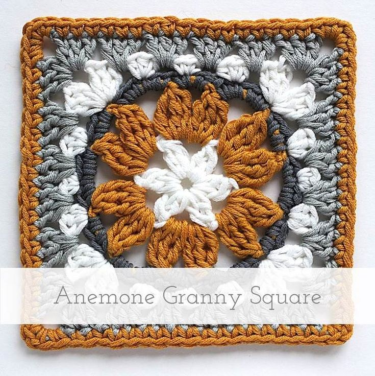 Anemone Granny Square | Free pattern + tutorial