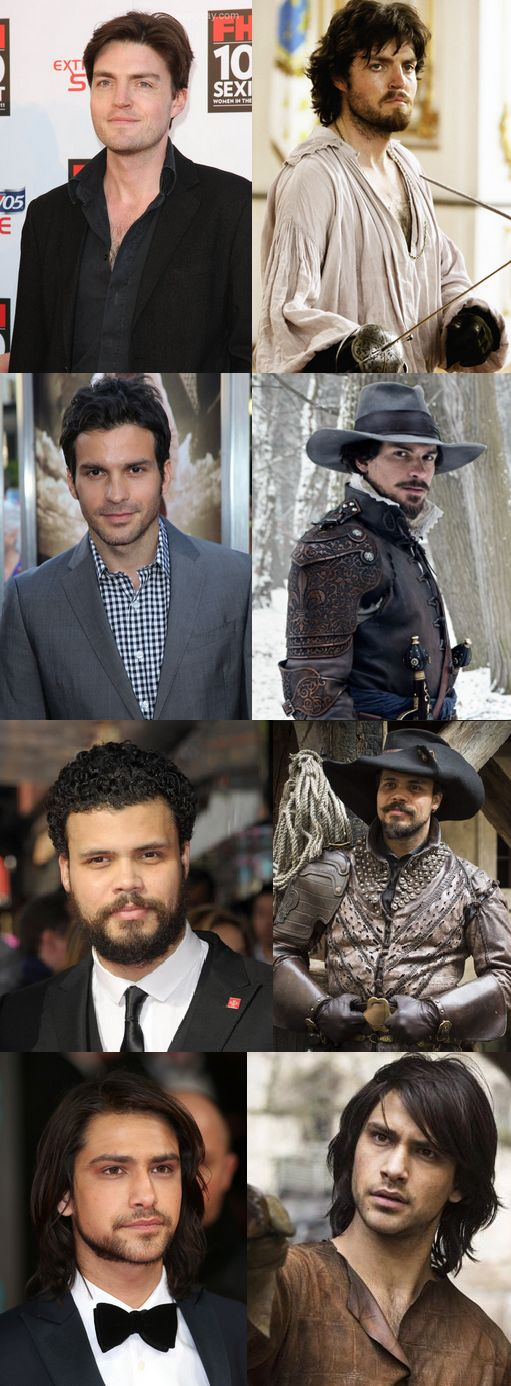 The Musketeers lads - Tom, Santiago, Howard & Luca. - I'm tempted to say - Scrubs DOWN nicely. E
