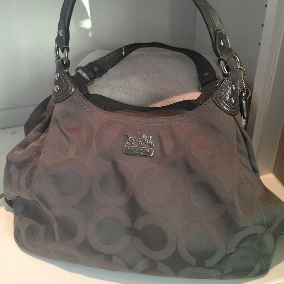Coach Bags - Authentic Coach Madison Op Silver shoulder bag