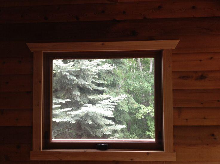 North Star window, Kolonial Oak interior cased in Cedar.