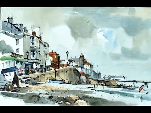 Simplifying Line Wash and Watercolour Trailer With John Hoar Trailer - YouTube