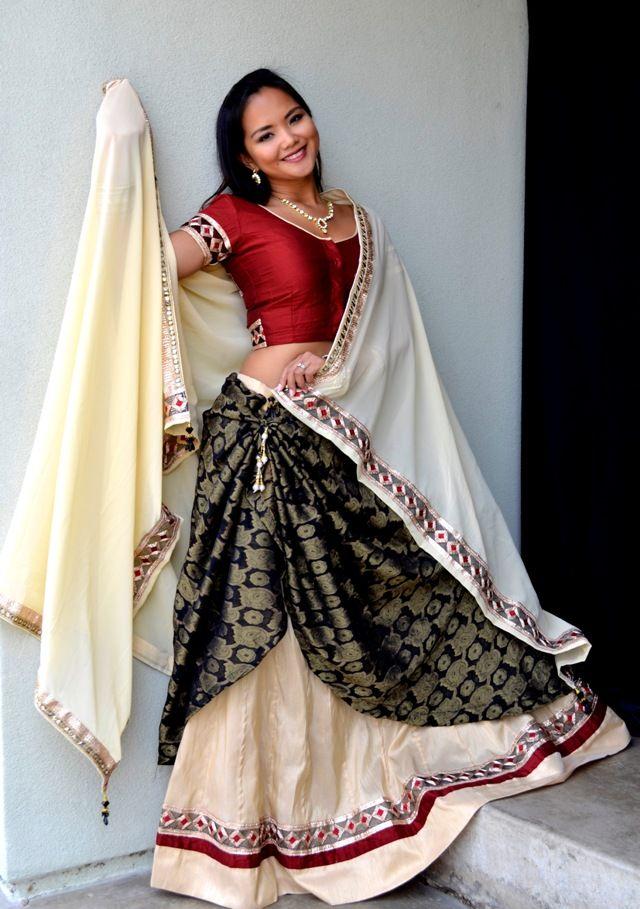 Vamp Red by Rajhani | Dancing Gopi Skirt Outfits
