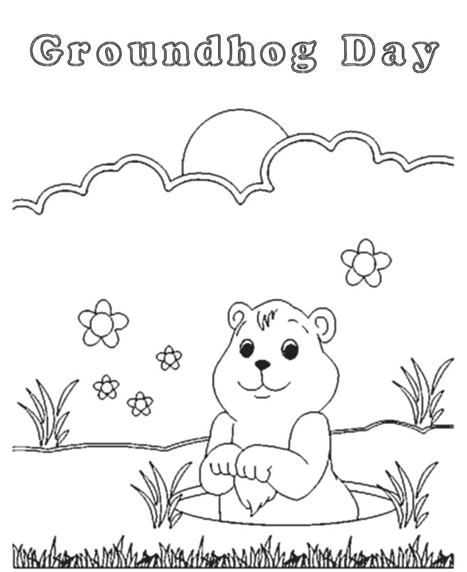 find this pin and more on school groundhog day coloring groundhog day cartoon coloring pages