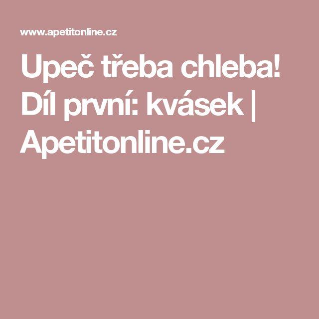 Upeč třeba chleba! Díl první: kvásek | Apetitonline.cz
