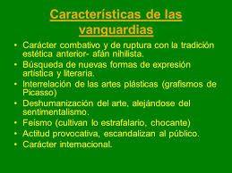 Caracter sticas generales del vanguardismo 2 for Caracteristicas del vanguardismo