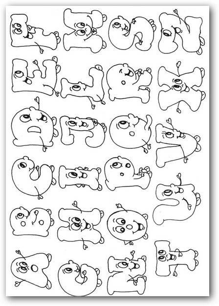 abecedarios para pintar con dibujos