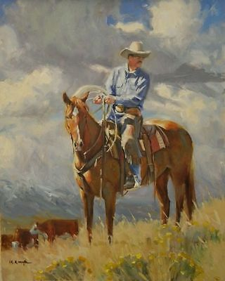 Original-Oil-Painting-western-cattle-ranch-cowboy-by Rick ...