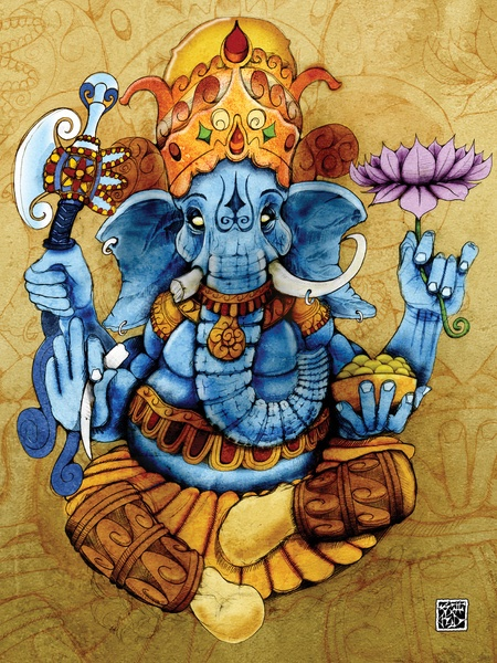 Ganesh by RICHMOND ART STUDIO #Ganesha #Ganesh #hindu #art #lotus