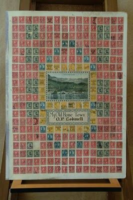 accidental mysteries: Found Postage Stamp Collages
