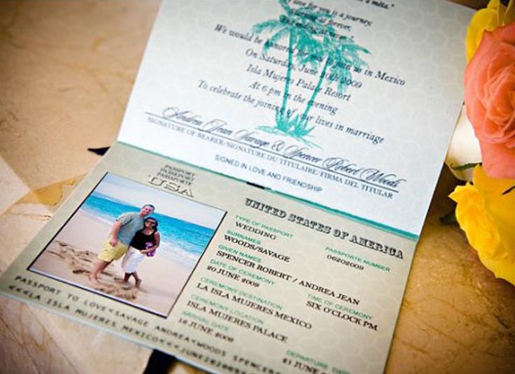 Passport Wedding Invitation Destination