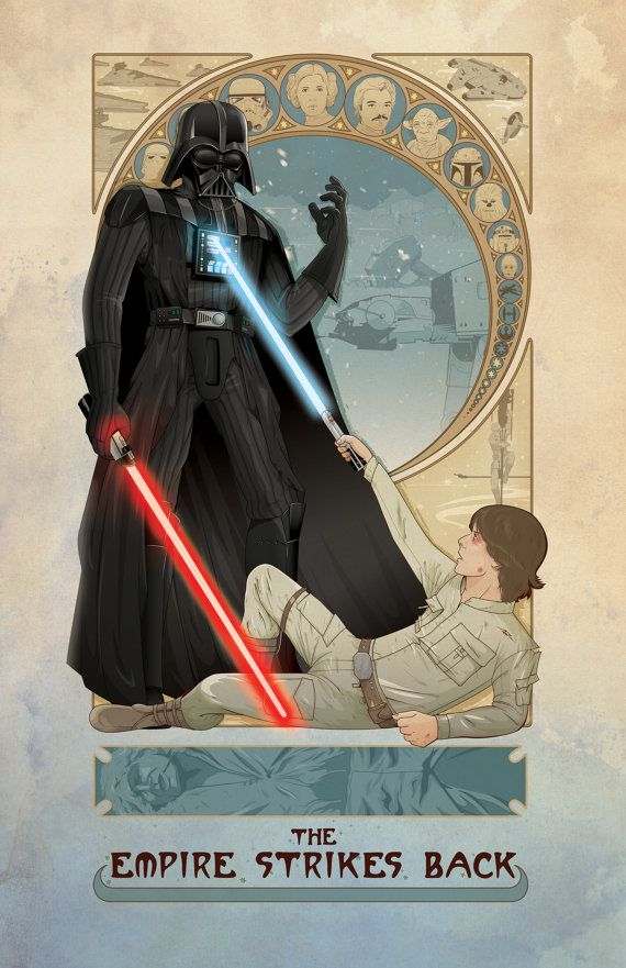 "Star Wars: The Empire Strikes Back poster - 11""x17"" - Art Print"
