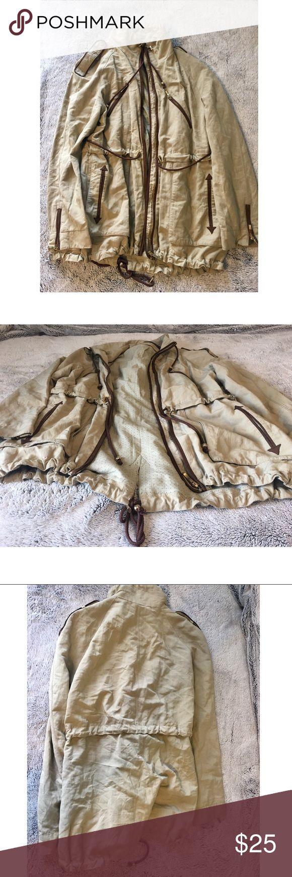 Zara Jacket • Tan / Khaki Zara Jacket • True To Size • Price Is Firm Zara Jackets & Coats