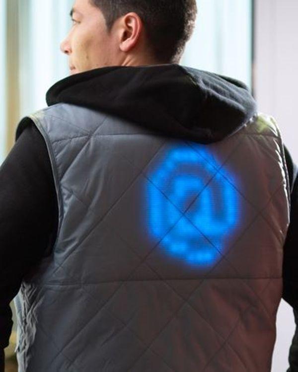 vêtement intelligent - textiles lumineux
