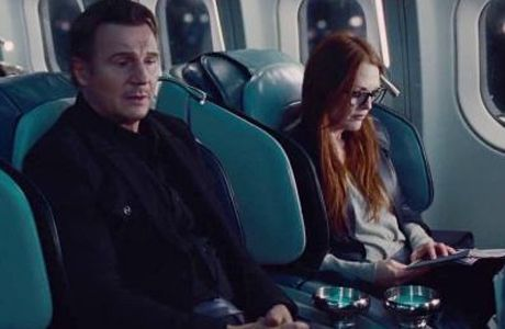 images from Non-stop liam neeson | Liam Neeson and Julianne Moore star in Non-Stop . (Universal).  She is very good in this film.