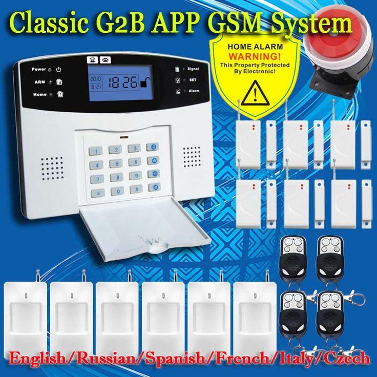 Freies Verschiffen! Englisch Russisch Spanisch Französisch Sprach Drahtlose Gsm-alarmsystem Home security Alarm systeme LCD Tastatur Pet Sensor