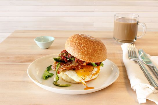 Egg Sandwich in NYC Egg Shop, 151 Elizabeth Street (between Kenmare and Broome streets); 646-666-0810.