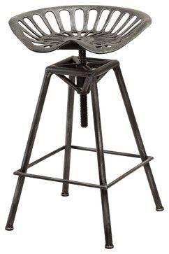 Charlie Industrial Metal Design Tractor Seat Bar Stool industrial-bar-stools-and-counter-stools