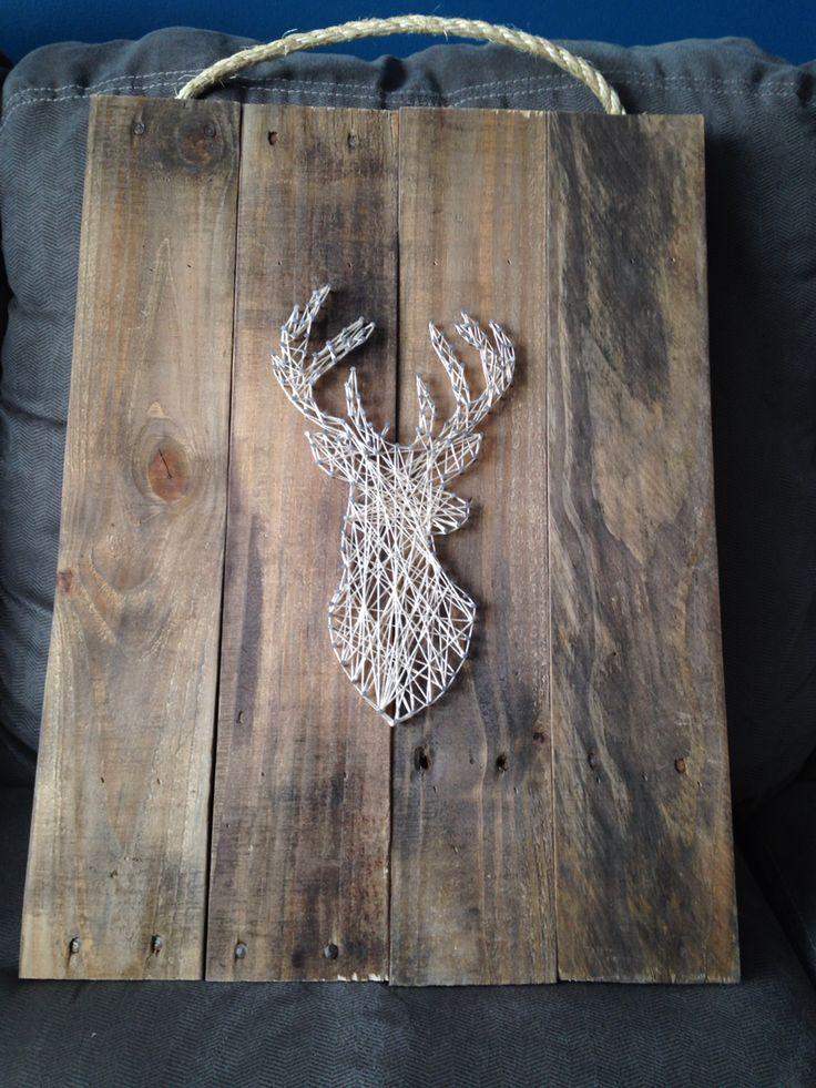 String Art - cadre fait moi-même en bois de palette