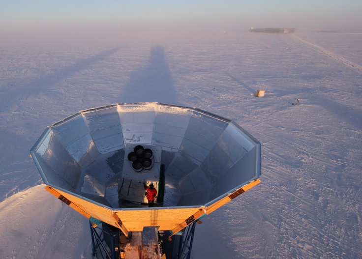 Keck Array Telescope, South Pole, Antarctica    --Robert Schwarz