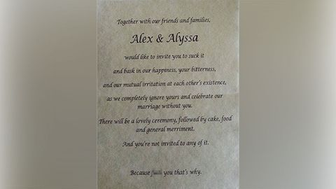 Bride's 'un-invite' to her parents goes viral