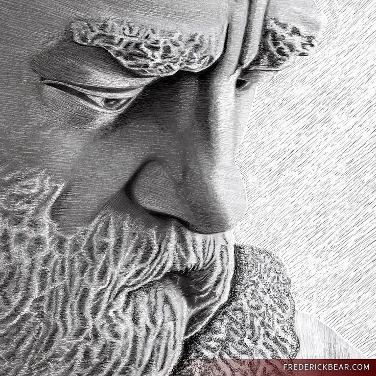 People have been asking for a close-up view of some of my recent posts so here you are.  This is a detail from Wisdom an illustration featured in my book Frederick Bear - A Tale of Bern. I drew it by hand on the iPad Pro with the Apple Pencil in Procreate. The work is 8K resolution... yes those are very small strokes!