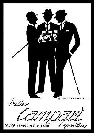 Classic italian art deco campari poster 1920s http www vintagevenus