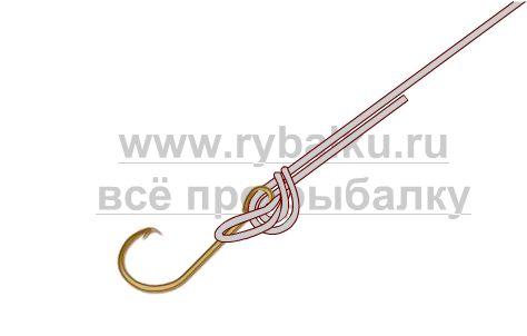 рыболовные узлы - как привязать крючок Паломар картинка 2