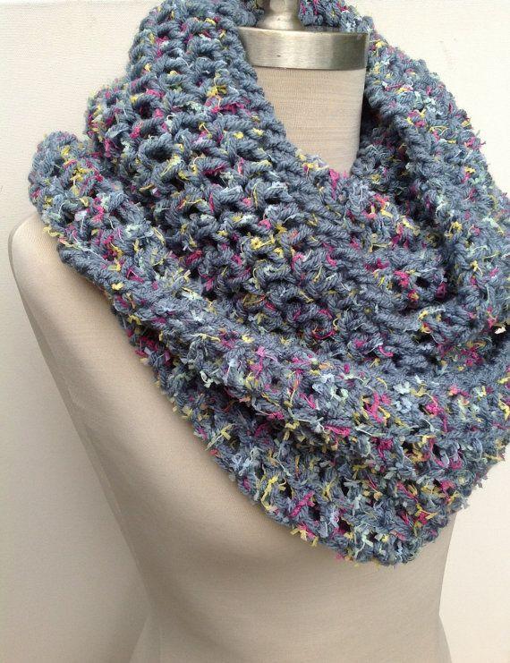 Infinity Scarf / Cowl / Shawl / Hoodie  Crochet by Sewstacy, $38.00