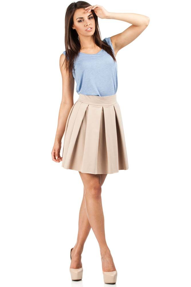 Beige skirt for women with higher status