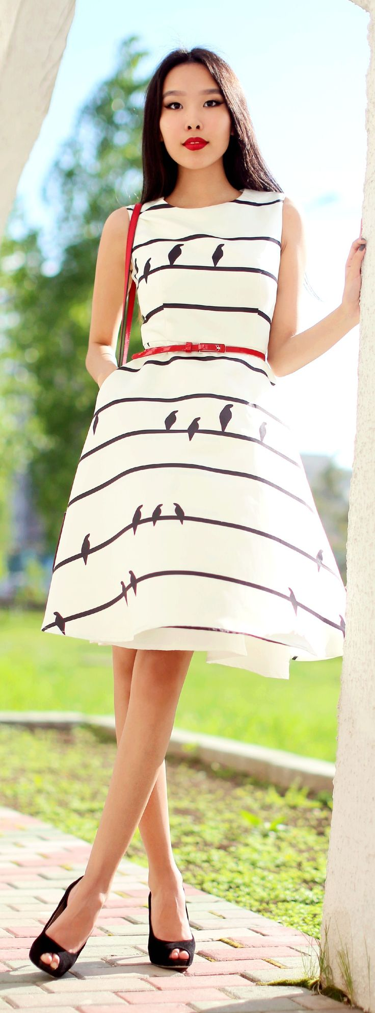Birds On Strings Dress Chic Style