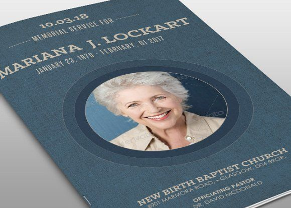 Bluejay Funeral Program Template by loswl on @creativemarket