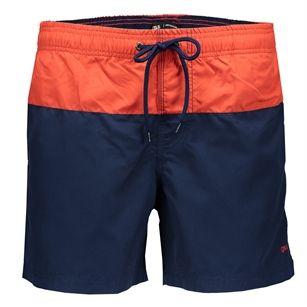 Gsus color block swimshorts, Orange, medium