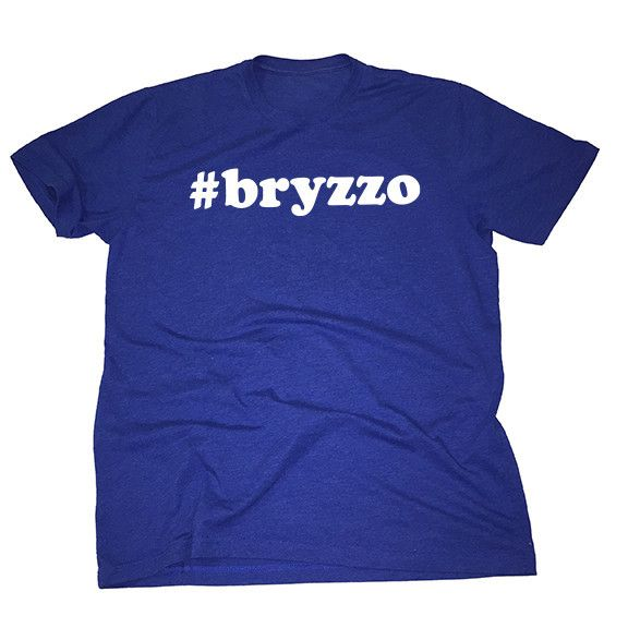 Support the Kris Bryant and Anthony Rizzo bromance in the softest, smoothest, best-looking Chicago Cubs t shirt available anywhere. Printed on Next Level - Royal Blue, Premium Fitted Short Sleeve Crew