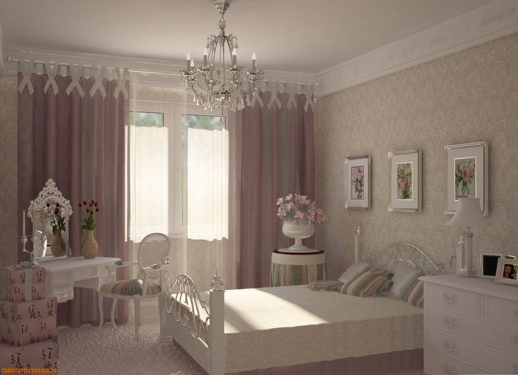 Фото спален в стиле прованс шторы