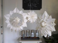 DIY Butterbrottüten-Sterne/DIY Wedding Paper Stars                              …