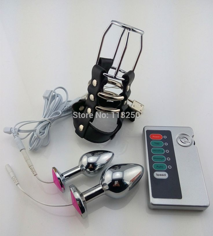 27.99$  Watch now - http://aliizu.shopchina.info/go.php?t=32265746703 - 2 type metal anal plug for choose steel butt plug electric shock leather chastity cage device electro shock  sex toys  #aliexpress