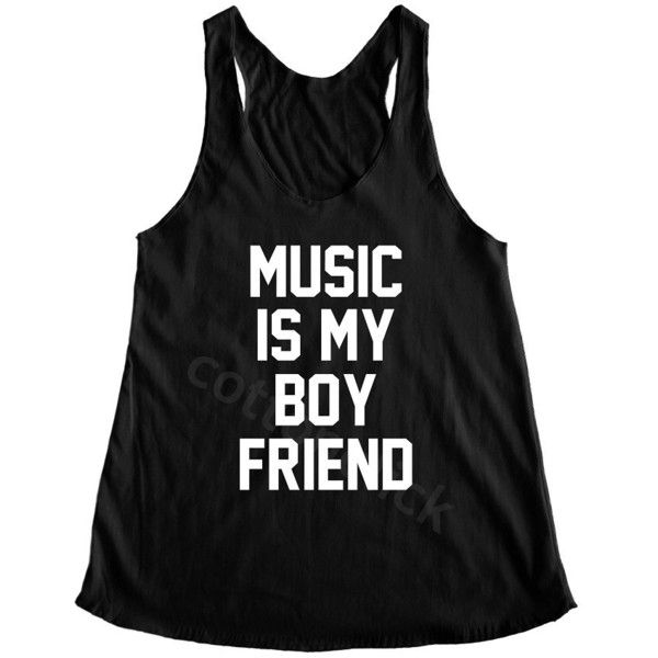 Music Is My Boy Friend Shirt Music Shirt Funny Slogan Shirt Teenagers... ($14) ❤ liked on Polyvore featuring tops, shirts, tanks, white, women's clothing, yoga tank tops, boyfriend tank, checked shirt, checkered shirt and white singlet