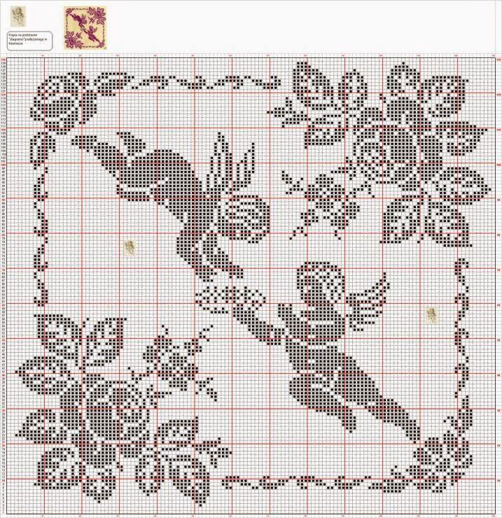 Kira scheme crochet: Scheme crochet no. 695