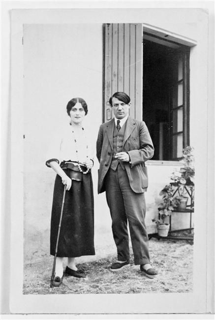 Pablo and Olga Picasso at Biarritz, 1918